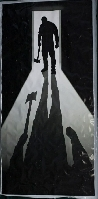 Shadow Man Door Cover