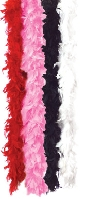 Solid Pink Feather Boa