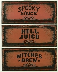 Spooky Bottle Name Labels large