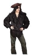 Swashbuckler Shirt Black Costume