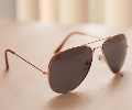 Top Gun Gold Frame Aviator Sunglasses