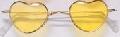 Yellow Lens Heart Shaped Glasses